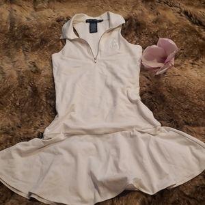 White tennis polo dress